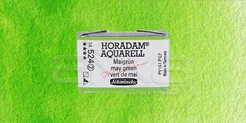 Schmincke Horadam Aquarell 1/1 Tablet 524 May Green seri 2 - 524 May Green