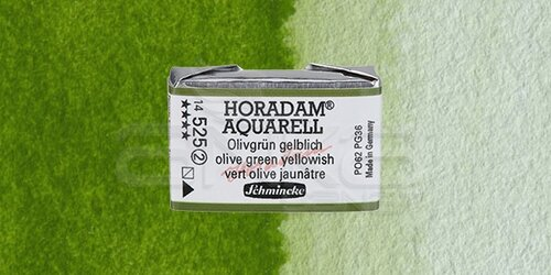 Schmincke Horadam Aquarell 1/1 Tablet 525 Olive Green Yellowish seri 2 - 525 Olive Green Yellowish