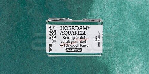 Schmincke Horadam Aquarell 1/1 Tablet 533 Cobalt Green Dark seri 4 - 533 Cobalt Green Dark