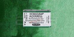 Schmincke - Schmincke Horadam Aquarell 1/1 Tablet 534 Permanent Green Olive seri 2