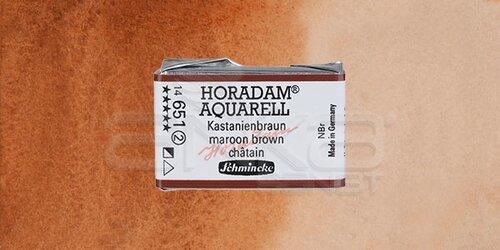 Schmincke Horadam Aquarell 1/1 Tablet 651 Maroon Brown seri 2 - 651 Maroon Brown