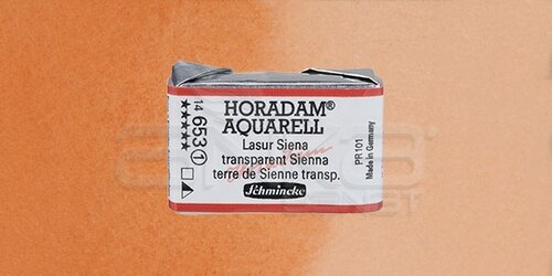Schmincke Horadam Aquarell 1/1 Tablet 653 Transparent Sienna seri 1 - 653 Transparent Sienna