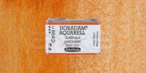 Schmincke Horadam Aquarell 1/1 Tablet 654 Gold Brown seri 2 - 654 Gold Brown
