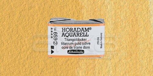 Schmincke Horadam Aquarell 1/1 Tablet 659 Titanium Gold Ochre seri 2 - 659 Titanium Gold Ochre