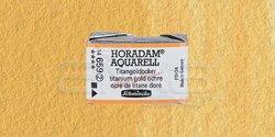 Schmincke - Schmincke Horadam Aquarell 1/1 Tablet 659 Titanium Gold Ochre seri 2