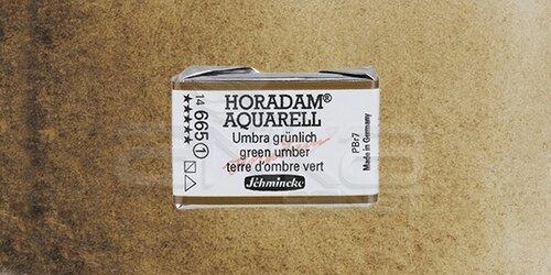 Schmincke Horadam Aquarell 1/1 Tablet 665geen Umber seri 1 - 665 Green Umber