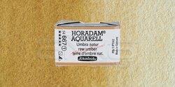 Schmincke - Schmincke Horadam Aquarell 1/1 Tablet 667 Raw Umber seri 1