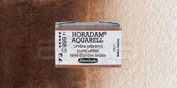 Schmincke - Schmincke Horadam Aquarell 1/1 Tablet 668 Burnt Umber seri 1