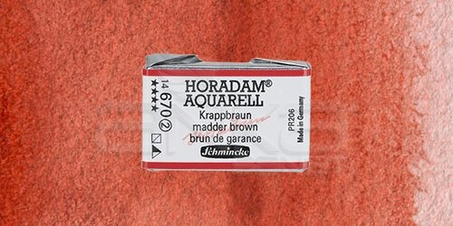 Schmincke Horadam Aquarell 1/1 Tablet 670 Madder Brown seri 2 - 670 Madder Brown