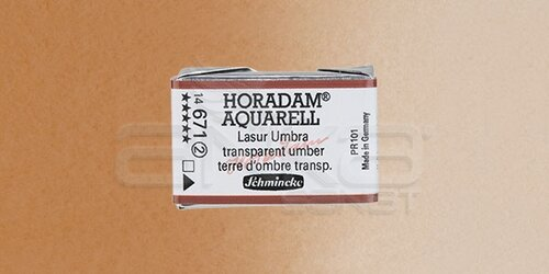 Schmincke Horadam Aquarell 1/1 Tablet 671 Transparent Umber seri 2 - 671 Transparent Umber