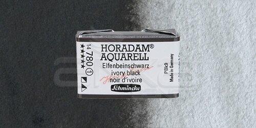 Schmincke Horadam Aquarell 1/1 Tablet 780 Ivory Black seri seri 1 - 780 Ivory Black seri