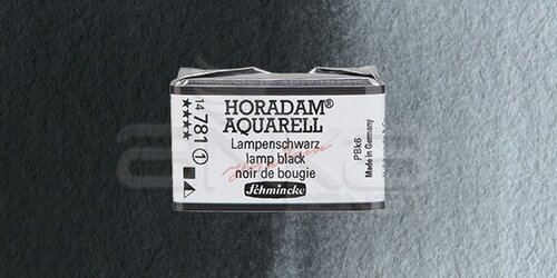 Schmincke Horadam Aquarell 1/1 Tablet 781 Lamp Black seri 1 - 781 Lamp Black