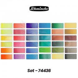 Schmincke - Schmincke Horadam Aquarell Sulu Boya Seti 36 Renk 1/2 Tablet + 12 Tablet Yeri Kod:74 436 (1)