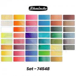 Schmincke - Schmincke Horadam Aquarell Sulu Boya Seti 48 Renk 1/2 Tablet Ahşap Kutu Kod:74548 (1)