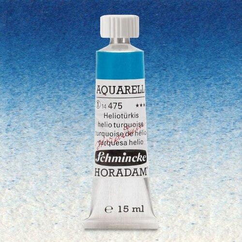 Schmincke Horadam Aquarell Tube 15ml Seri 1 Helio Turquoise 475