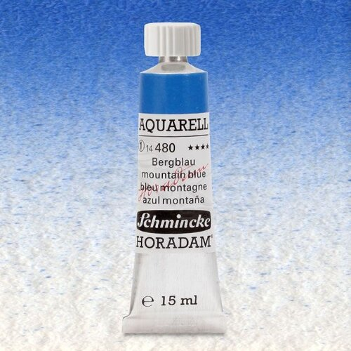Schmincke Horadam Aquarell Tube 15ml Seri 1 Mountain Blue 480