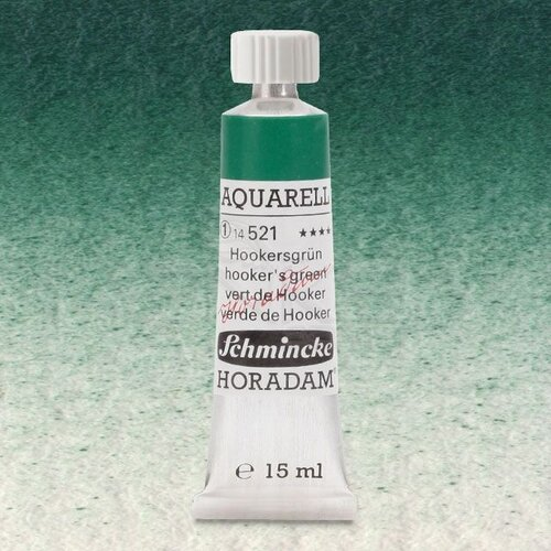 Schmincke Horadam Aquarell Tube 15ml Seri 1 Hookers Green 521