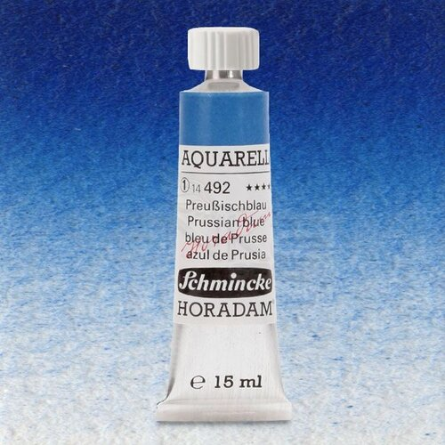 Schmincke Horadam Aquarell Tube 15ml Seri 1 Prussian Blue 492