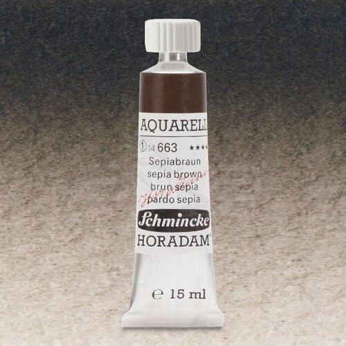 Schmincke Horadam Aquarell Tube 15ml Seri 1 Sepia Brown 663