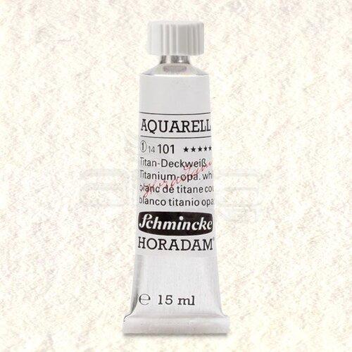 Schmincke Horadam Aquarell Tube 15ml Seri 1 Titanium Opaque White 101