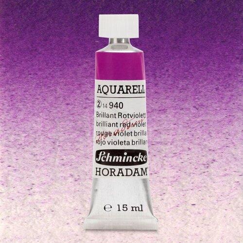 Schmincke Horadam Aquarell Tube 15ml Seri 2 Brilliant Red Violet 940