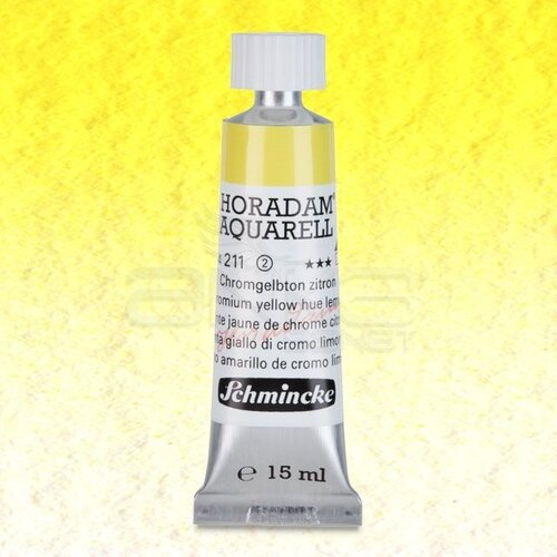 Schmincke Horadam Aquarell Tube 15ml Seri 2 Chrome Yellow Lemon 211