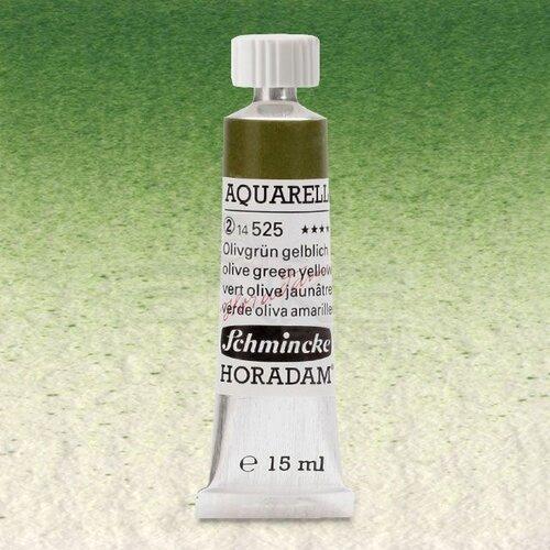 Schmincke Horadam Aquarell Tube 15ml Seri 2 Olive Green Yellowish 525