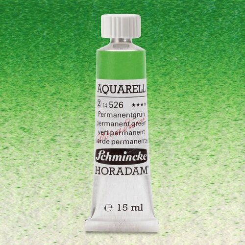 Schmincke Horadam Aquarell Tube 15ml Seri 2 Permanent Green 526