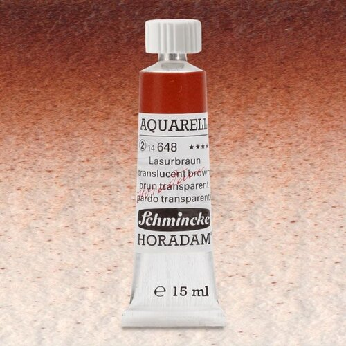 Schmincke Horadam Aquarell Tube 15ml Seri 2 Translucent Brown 648