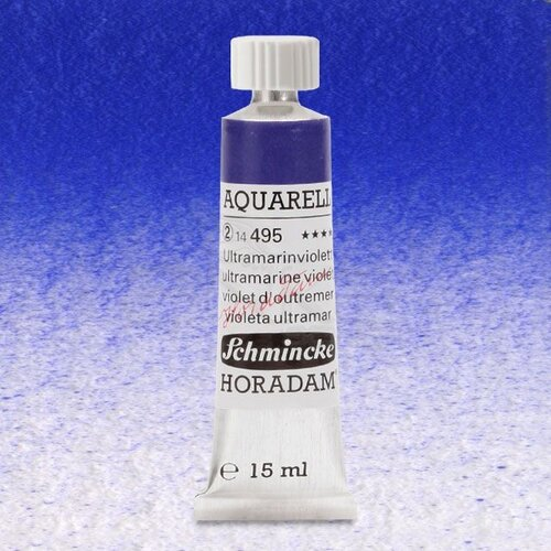 Schmincke Horadam Aquarell Tube 15ml Seri 2 Ultramarine Violet 495