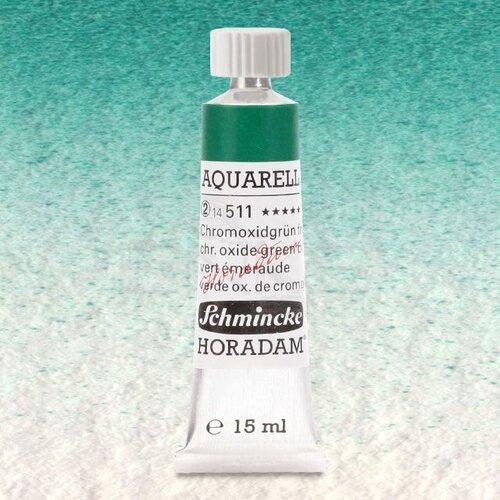 Schmincke Horadam Aquarell Tube 15ml Seri 2 Chromium Oxide Green Brilliant 511