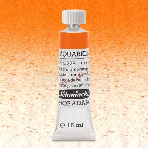 Schmincke Horadam Aquarell Tube 15ml Seri 3 Cadmium Orange Deep 228