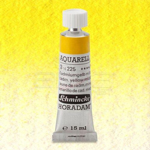 Schmincke Horadam Aquarell Tube 15ml Seri 3 Cadmium Yellow Middle 225
