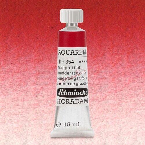 Schmincke Horadam Aquarell Tube 15ml Seri 3 Madder Red Dark 354