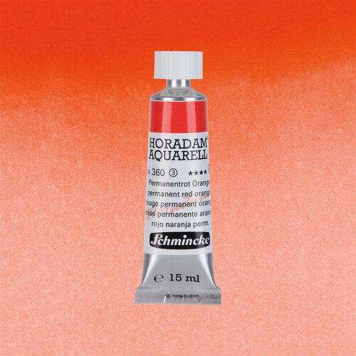 Schmincke Horadam Aquarell Tube 15ml Seri 3 Permanent Red Orange 360