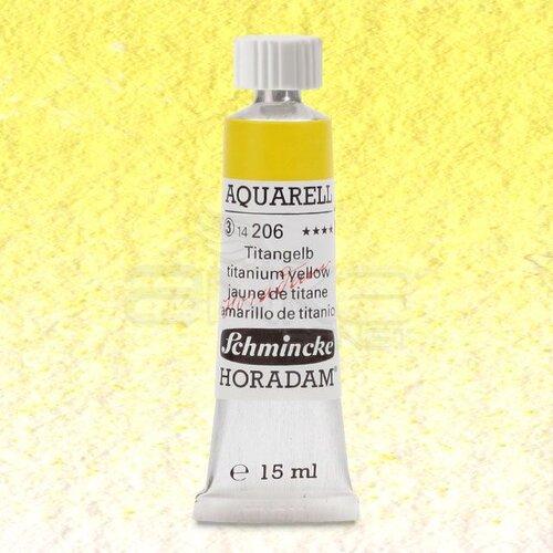 Schmincke Horadam Aquarell Tube 15ml Seri 3 Titanium Yellow 206