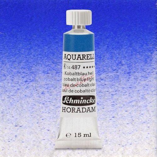 Schmincke Horadam Aquarell Tube 15ml Seri 4 Cobalt Blue Light 487