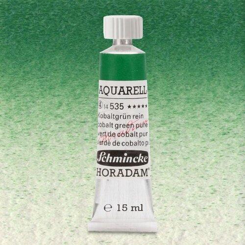 Schmincke Horadam Aquarell Tube 15ml Seri 4 Cobalt Green Pure 535