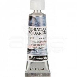 Schmincke Horadam Aquarell Tube 15ml Super Granulation 955 Deep Sea Black - Thumbnail