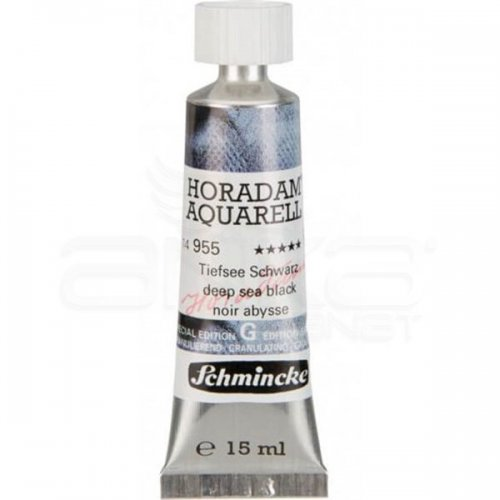 Schmincke Horadam Aquarell Tube 15ml Super Granulation 955 Deep Sea Black
