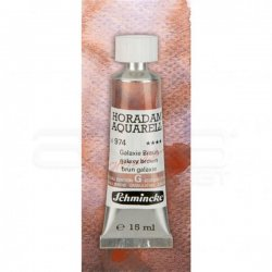 Schmincke Horadam Aquarell Tube 15ml Super Granulation 974 Galaxy Brown - Thumbnail
