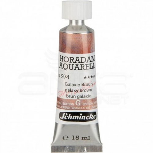 Schmincke Horadam Aquarell Tube 15ml Super Granulation 974 Galaxy Brown