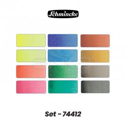 Schmincke - Schmincke Horadam Artist Metal Kutu 12x1/2 Tablet Set Kod:74 412 (1)
