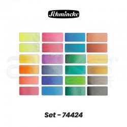Schmincke - Schmincke Horadam Metal Kutu 24x1/2 Tablet Set Kod:74 424 (1)