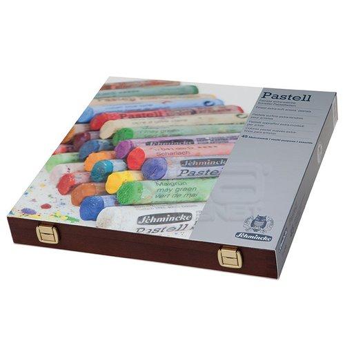 Schmincke Soft Pastel Boya Seti Cardboard 45li Ahşap Kutu