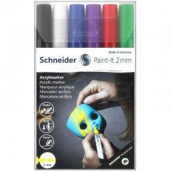 Schneider - Schneider Akrilik Marker Kalem 310 2mm Set 1 6lı
