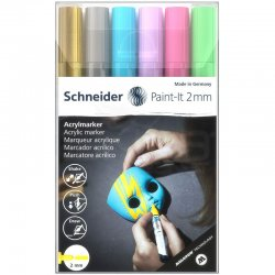 Schneider - Schneider Akrilik Marker Kalem 310 2mm Set 2 6lı
