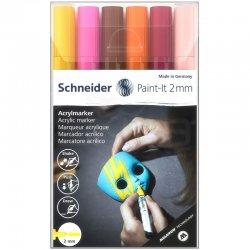 Schneider - Schneider Akrilik Marker Kalem 310 2mm Set 3 6lı