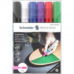 Schneider - Schneider Akrilik Marker Kalem 320 4mm Set 1 6lı