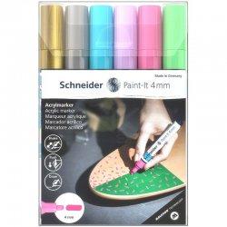 Schneider - Schneider Akrilik Marker Kalem 320 4mm Set 2 6lı